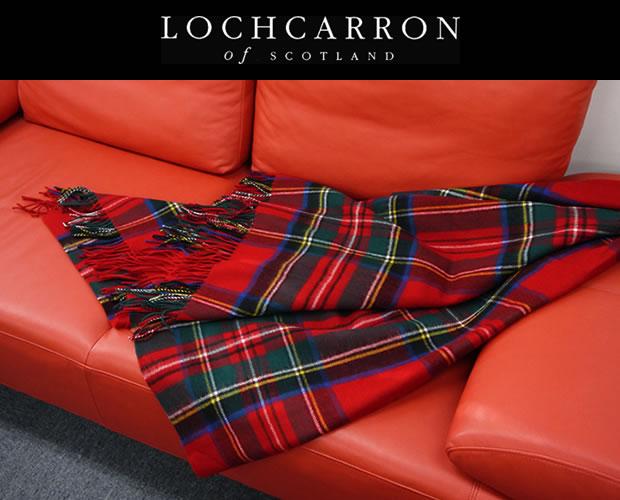 ロキャロン 英国王室ご愛用 タータンチェック 膝掛け ラグ ブランケット