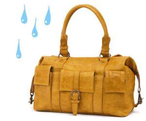 バッグの水濡れ対処法