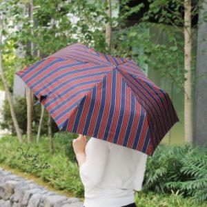 Rainbow】ヨークストライプコンパクトミニ折りたたみ傘