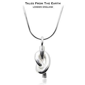 【TALES FROM THE EARTH】イギリス製 シルバーペンダント 幸運のノット ネックレス