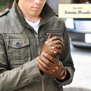 【Antonio Murolo】イタリア製 メンズ 本革ナッパレザー ロングドライビンググローブ