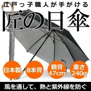【Nouvel Japonais】日傘 スパッタリングメッシュ スライドショート 日本製