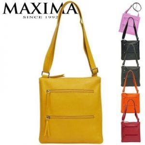 【MAXIMA】2段ポケット薄型ボディーバッグ<エミリア>