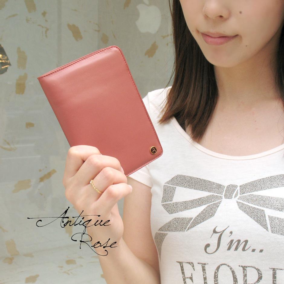 【ANTONINI】<パードレ>高級ナッパ革カラフルブック型財布