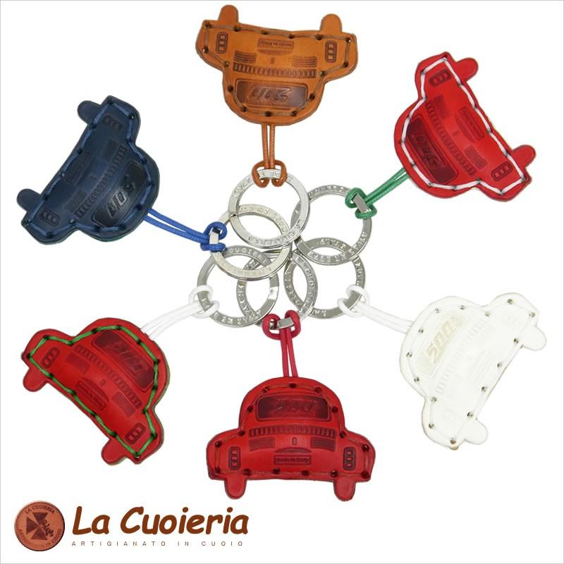 【La Cuoieria】イタリアンミニカーレザーキーホルダー