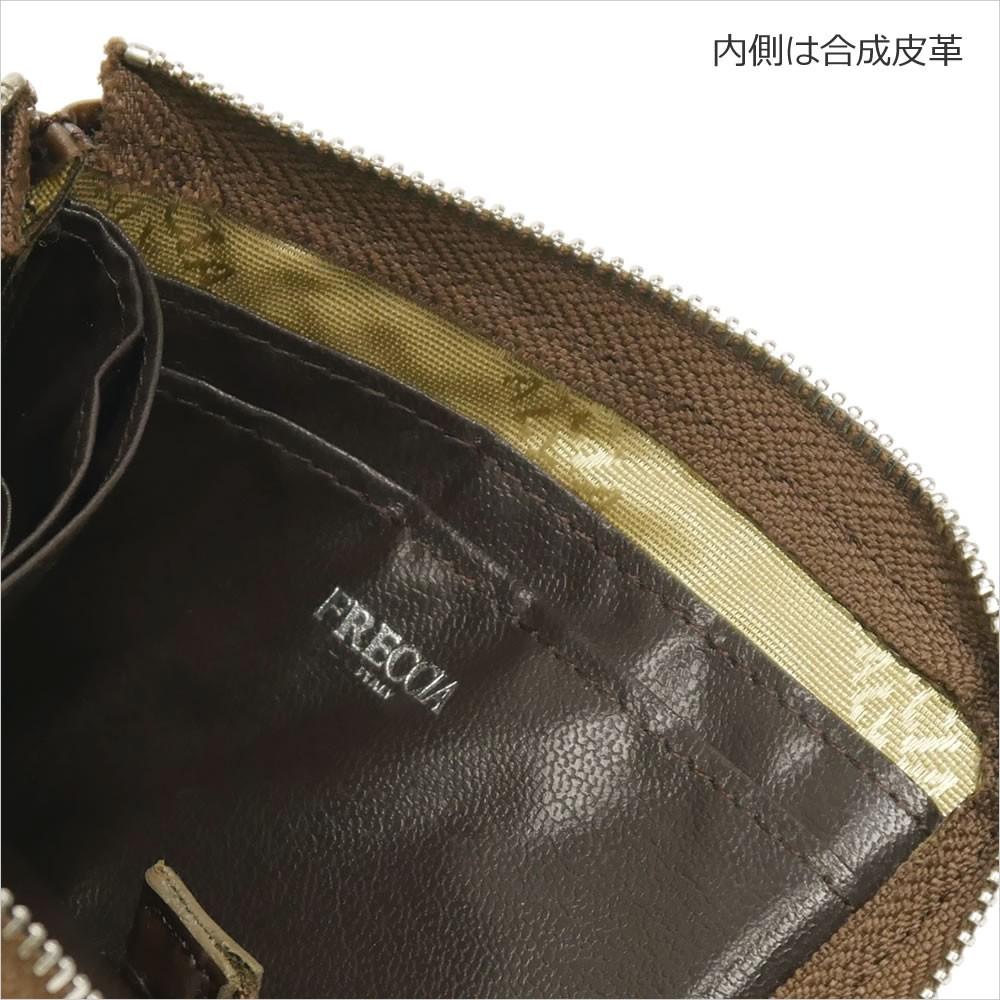 【FRECCIA】イタリアンエナメルレザーL字ファスナーコインケース 詳細