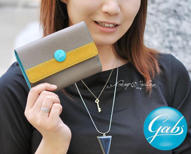 【GABS(ガブス)】イタリア製バイカラー二つ折り財布
