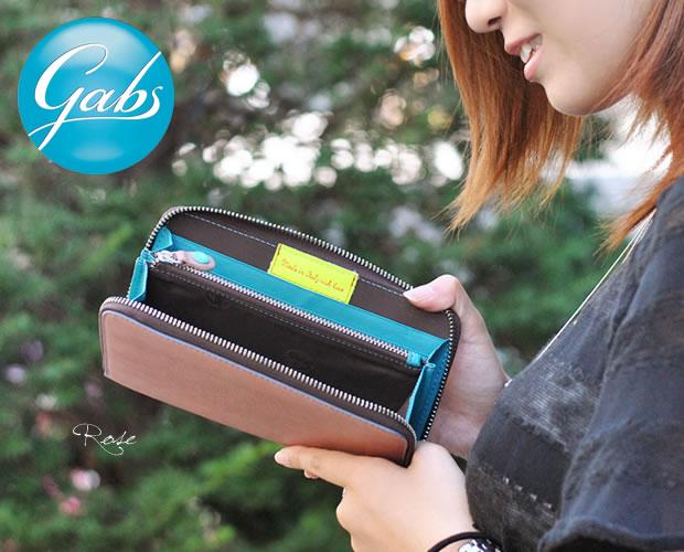 【GABS(ガブス)】カラフルシャイニーレザーラウンドファスナー長財布