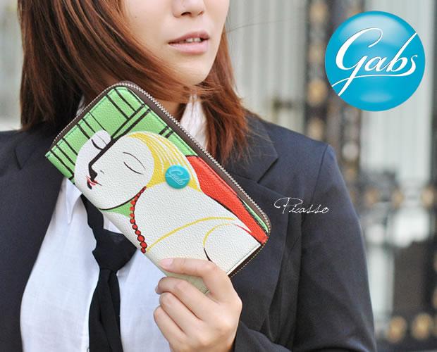 【GABS(ガブス)】アートプリントラウンドファスナー長財布