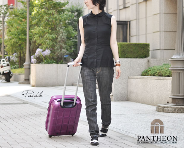 【PANTHEON】 ハードキャリーケース TSAロック付き  パープル