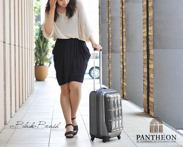 【PANTHEON】 ハードキャリーケース TSAロック付き  ブラックブラッシュ