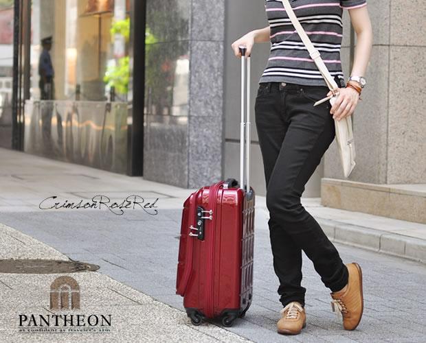 【PANTHEON】 ハードキャリーケース TSAロック付き  クリムゾンローズレッド