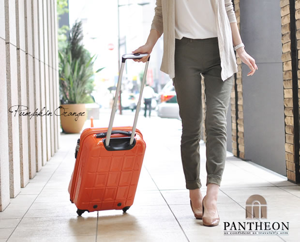 【PANTHEON】 ハードキャリーケース TSAロック付き  パンプキンオレンジ