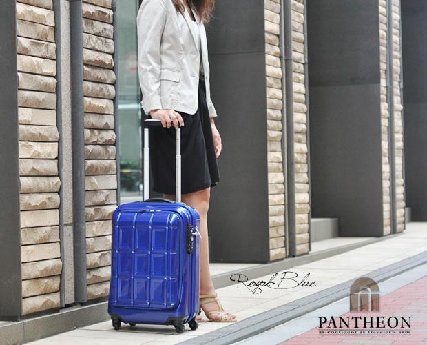 【PANTHEON】 ハードキャリーケース TSAロック付き  ロイヤルブルー