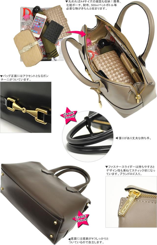 【innue】カーフレザー ドーム型ハンドバッグ 詳細