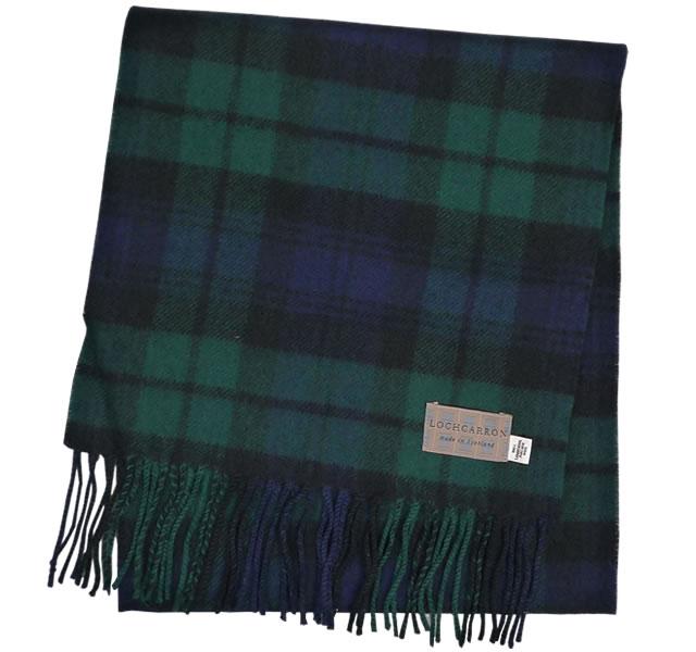 【Lochcarron of Scotland(ロキャロン オブ スコットランド)】ラムズウール100%マフラー<ブラックウォッチ>