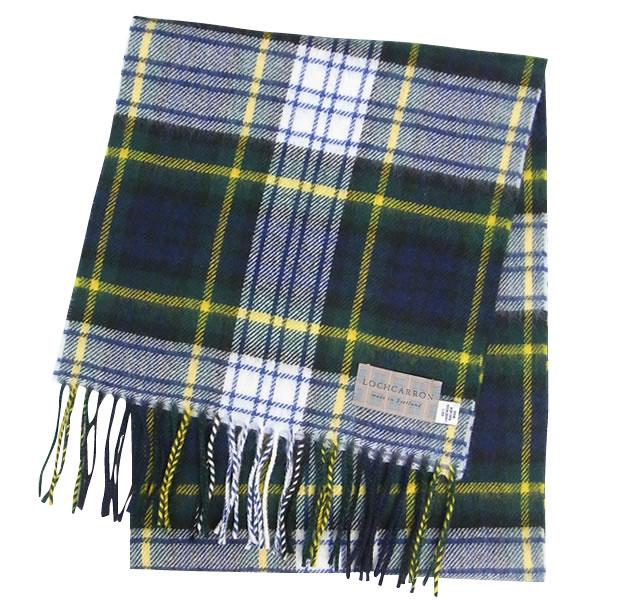 【Lochcarron of Scotland(ロキャロン オブ スコットランド)】ラムズウール100%マフラー<ドレスゴードン>