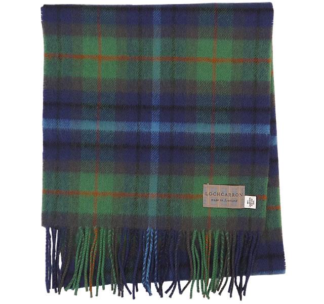 【Lochcarron of Scotland(ロキャロン オブ スコットランド)】ラムズウール100%マフラー<ニューヨークシティ>