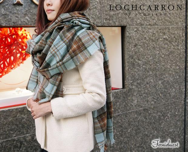 【Lochcarron of Scotland(ロキャロン オブ スコットランド)】カシミヤ混薄手大判ストール タータン 英国スコットランド