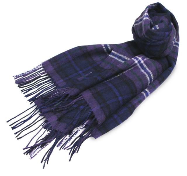 【Lochcarron(ロキャロン)】ラムズウール100%大判ストール<スコットランドフォーエバー>