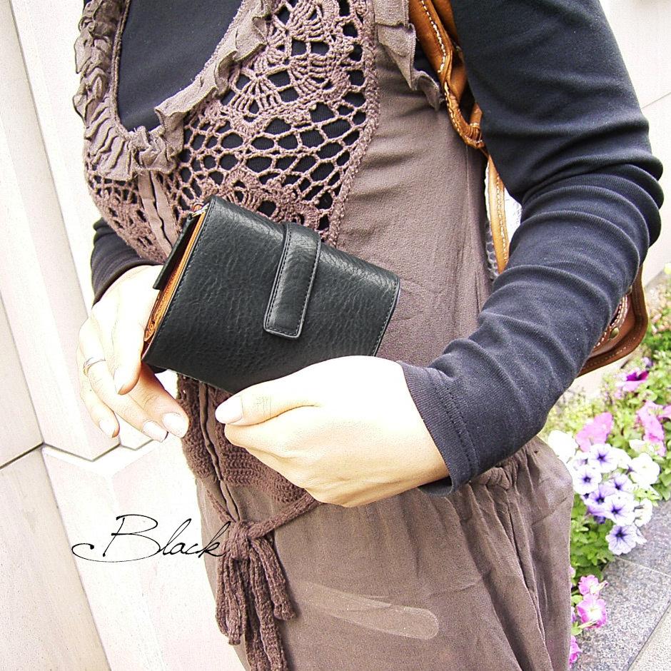 イタリア名門タンナー社製カラフルレザーアコーディオン型財布<IL RICCA>
