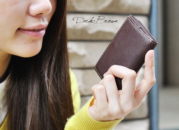 ベジタブルレザー三つ折り財布