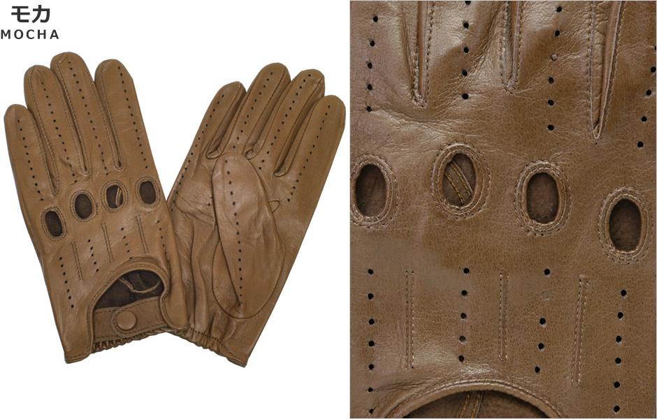 【Antonio Murolo】イタリア製メンズドライビンググローブ<レザー革手袋>