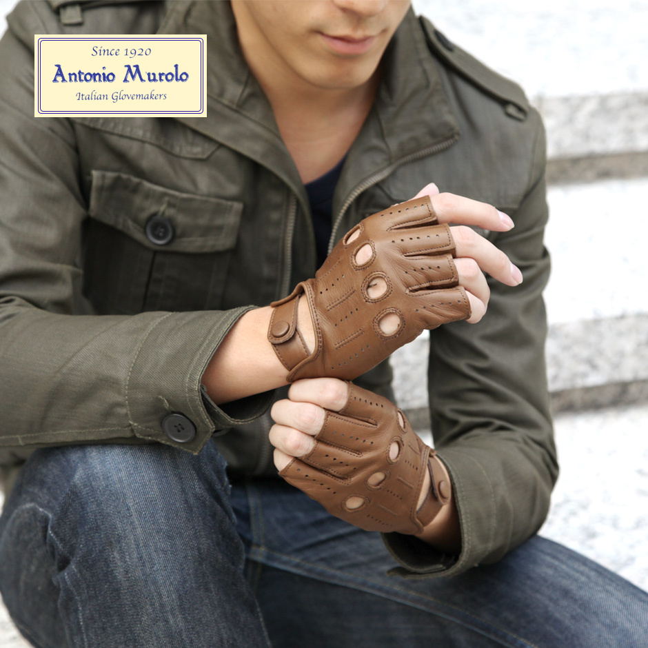 【Antonio Murolo】イタリア製メンズドライビンググローブ<レザー革手袋