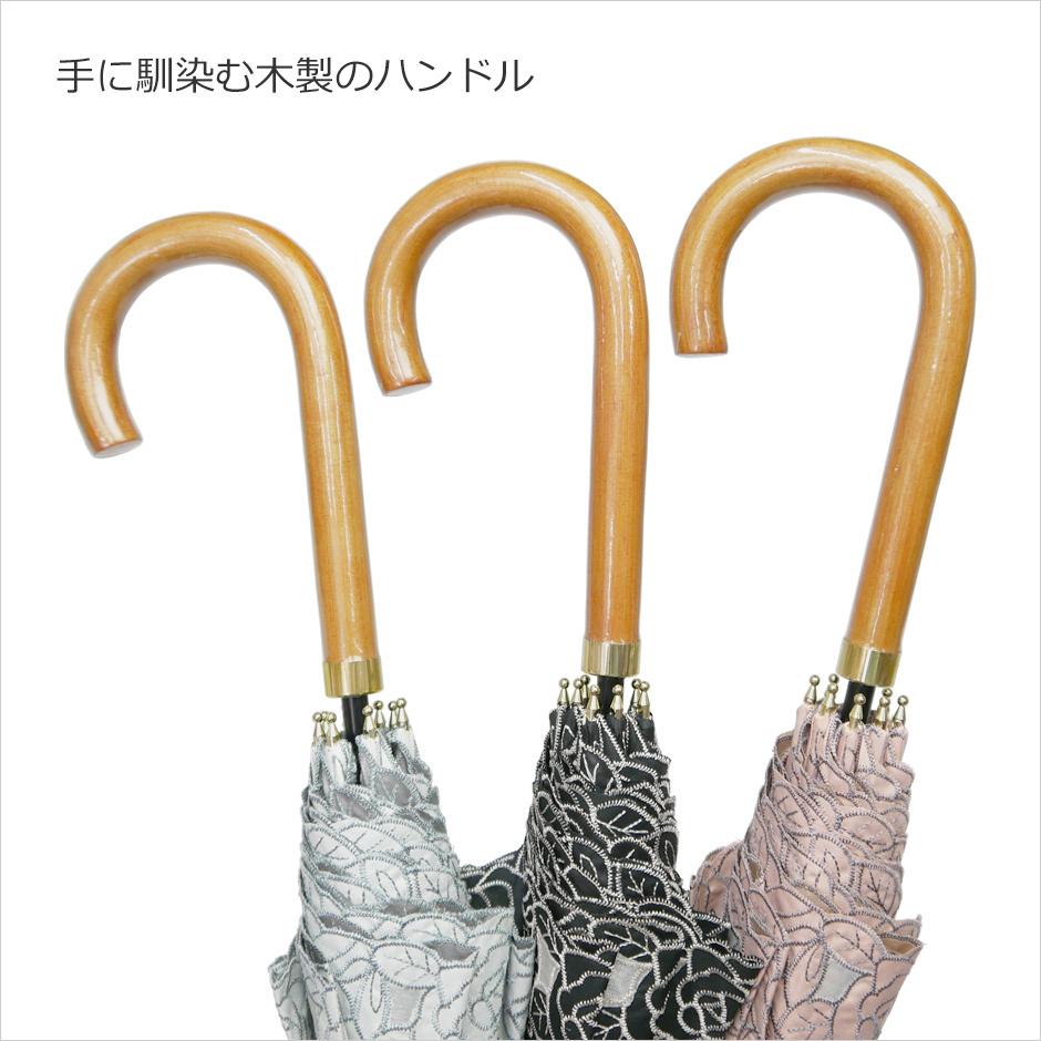 【CarronSelect】オーガンジーローズエンブロイダリーバルーン晴雨兼用長日傘 詳細