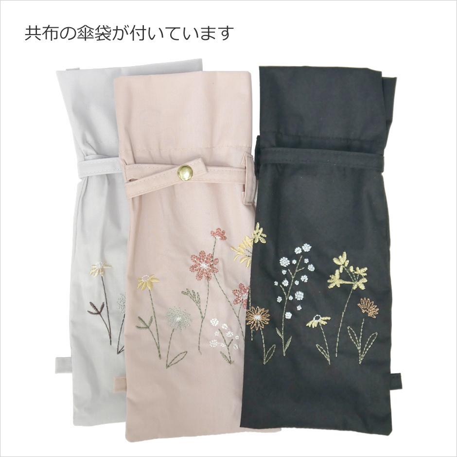 【CarronSelect】フラワーエンブロイダリー晴雨兼用ミニ折りたたみ日傘 詳細