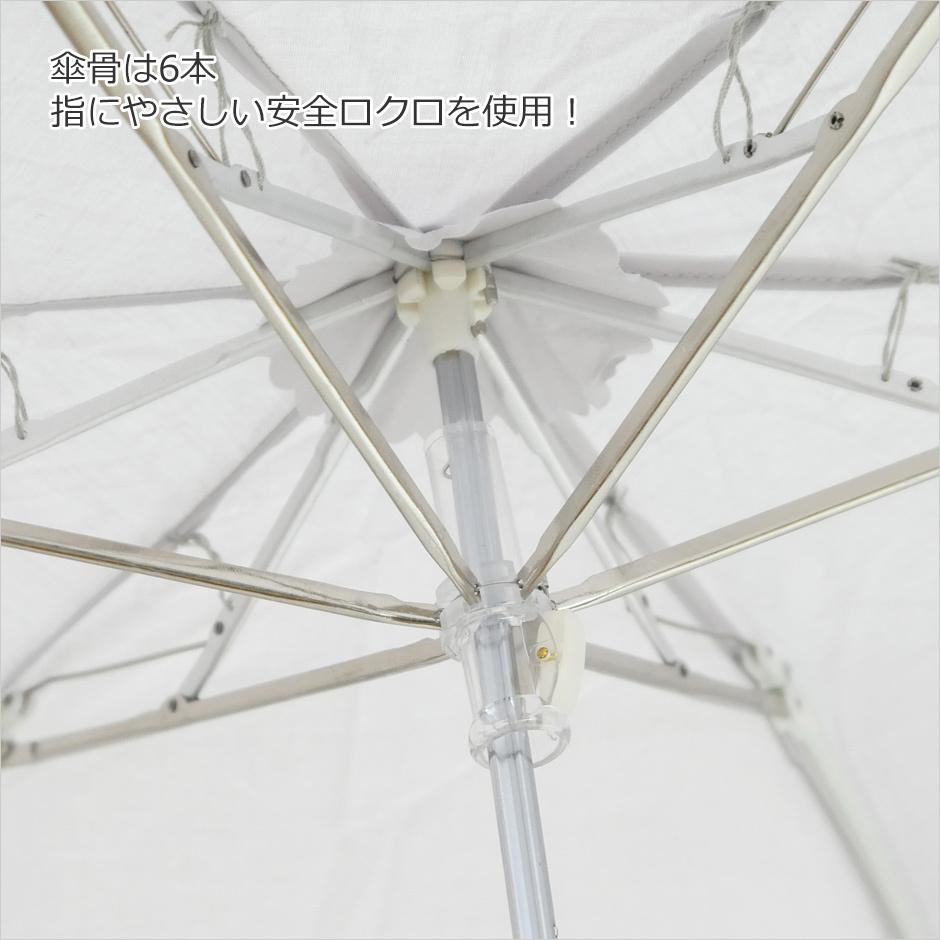 【CarronSelect】オーガンジーバテンレース晴雨兼用ミニ折りたたみ日傘 詳細