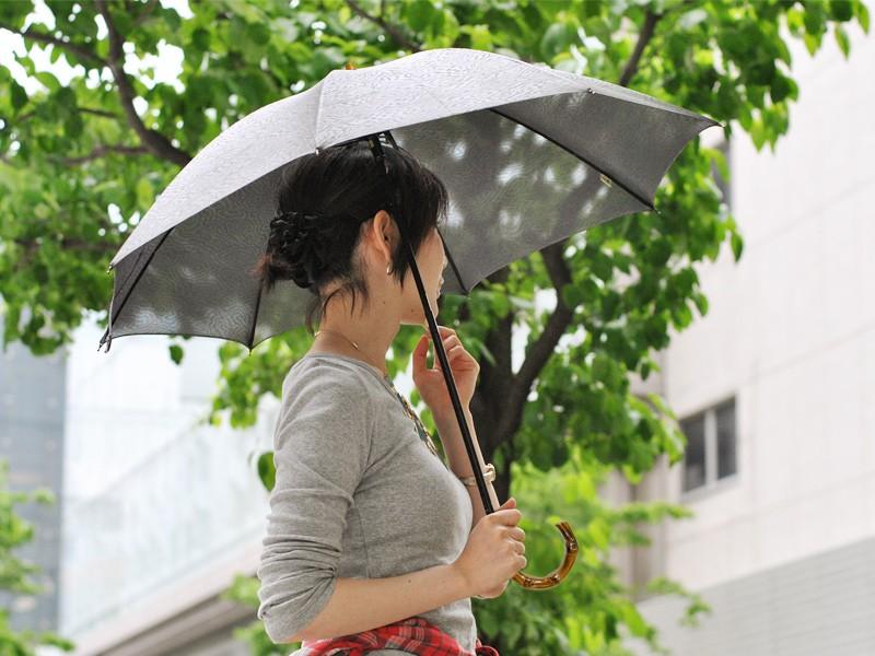 【Nouvel Japonais】スパッタリングメッシュスライドショート日傘