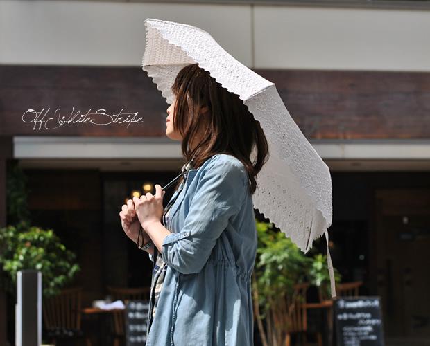 エンブロイダリーレースミニ折りたたみ日傘