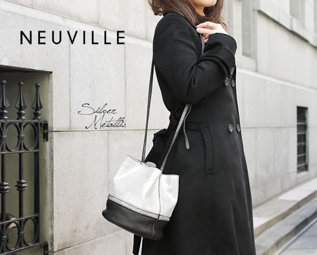 【NEUVILLE(ヌーヴィル)】のバケツ型ショルダーバッグ