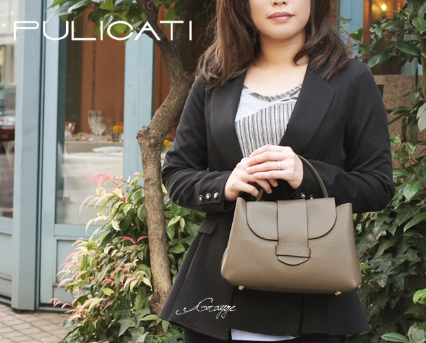 イタリア【PULICATI(プリカッティ)】2WAYミニショルダーハンドバッグ