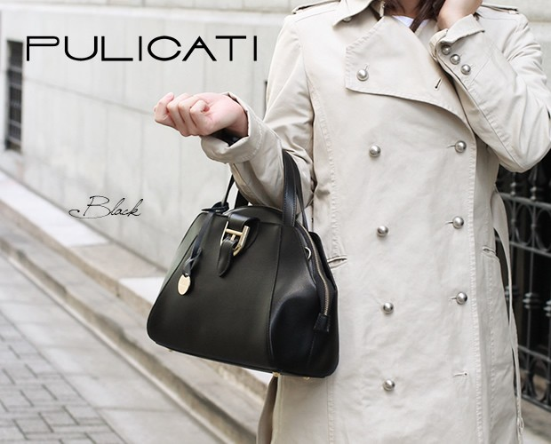 【PULICATI】型押しカーフレザー2wayテリーヌバッグ<アメリータ>