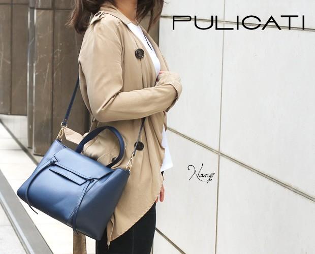 【PULICATI】2wayワンハンドルフラップハンドバッグ<コスタンツァ>