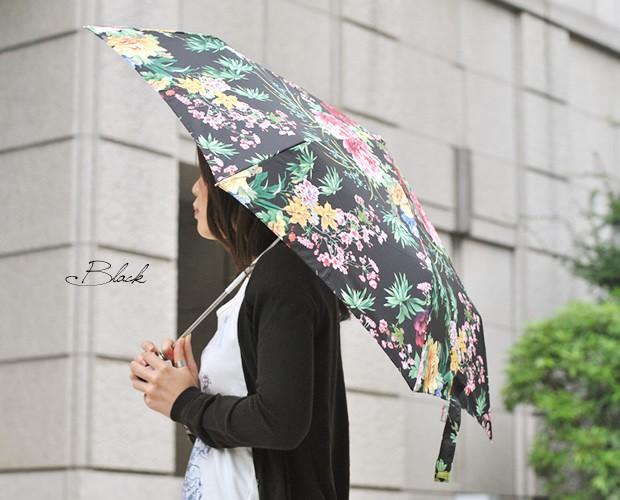 【rainbow(レインボウ)】フラワープリントワンタッチ自動開閉折りたたみ傘