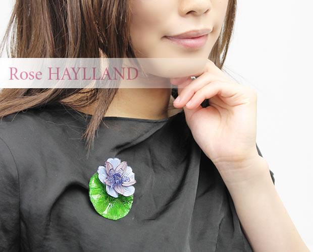 【ROSE HAYLLAND】睡蓮モチーフブローチ