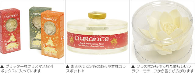 DURANCE(デュランス)クリスマス限定アロマディフューザー 詳細