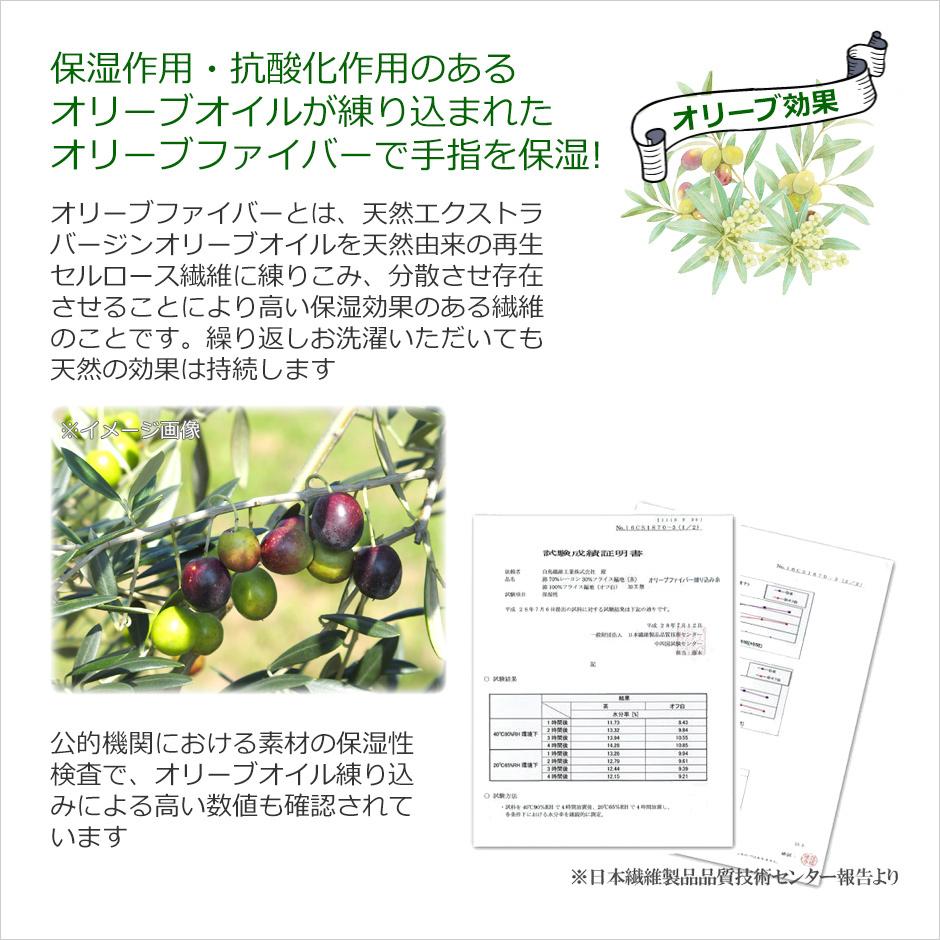 【CarronSelect】オリーブファイバーロング丈手袋 詳細
