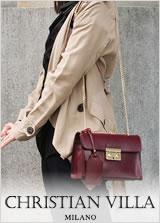 銀座発!キャロン国-イタリアブランド。スタイリッシュ・バッグクリスチャンヴィラのチェーンミニバッグ