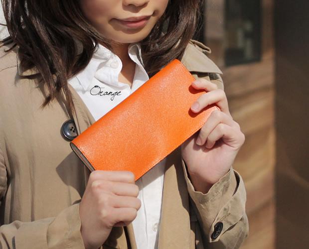 チェルケスレザー 二つ折り長財布