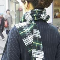スコットランド製 ラムズウール100%マフラー<全4柄>