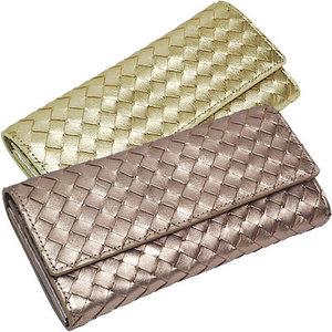 カラフルメッシュのギャルソンタイプの長財布