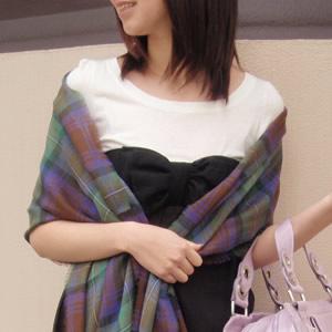 【ロキャロン】ピュアウール100%薄手ストール<アイルオブスカイ>