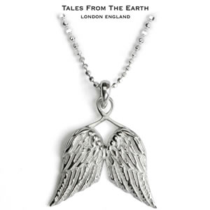 イギリス製ペンダント 守護天使の翼
