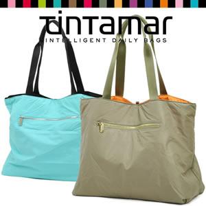 【tintamar】リバーシブルバイカラーナイロントート<DUO BAG>