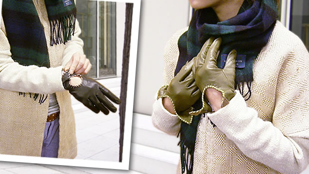 ステッチ・革手袋