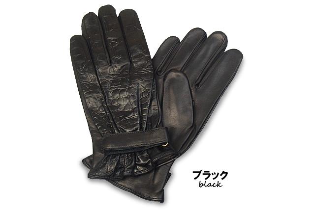 クロコ型押しグローブ・革手袋